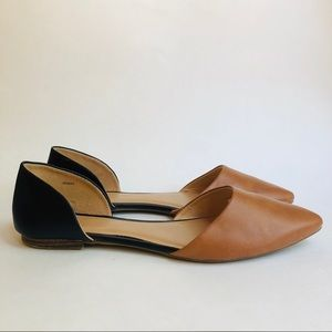 GAP Black and Brown Pointed Flats